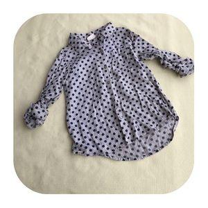 6/$15 4/5 XS ZARA girls button down shirt